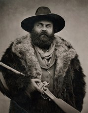 "Will Dunniway, Black Bart With Sharp's Rifle, 1996, Roaring Camp, CA, Inkjet print from wet plate collodion tintype, 25""x 29"" http://dunniway.com"