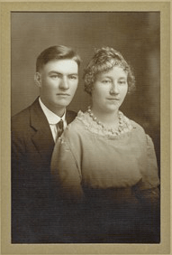 [15] DEWITT Vernon and Gladys wedding portrait cropped