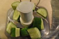 Add cucumber to food processor