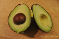 Remove avocados from shell