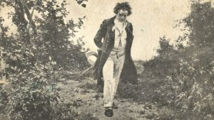 Beethoven walking in the woods