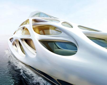 Una línea de yates diseñada por Zaha Hadid