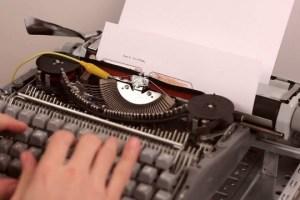 La máquina de escribir que crea música