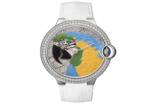 Un reloj con naturaleza viva