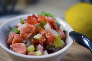 Ceviche de salmón para los paladares excéntricos