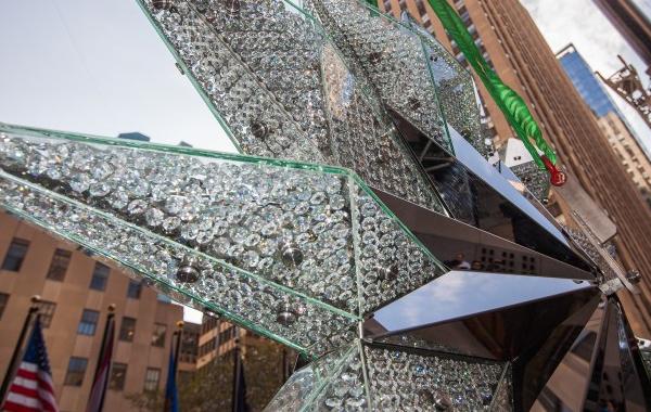 La impresionante estrella del árbol de Swarovski del Rockefeller Center
