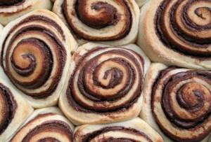 Roles de canela… ¡con Nutella!