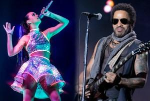 Katy Perry y Lenny Kravitz juntos para el Super Bowl