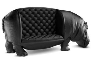¡Un sofá de hipopótamo!