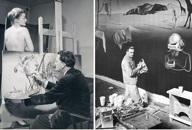 10 famosos artistas en su estudio creativo - Studio-Salvador-Dali