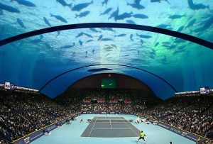 ¿Construirán una cancha de tennis submarina?