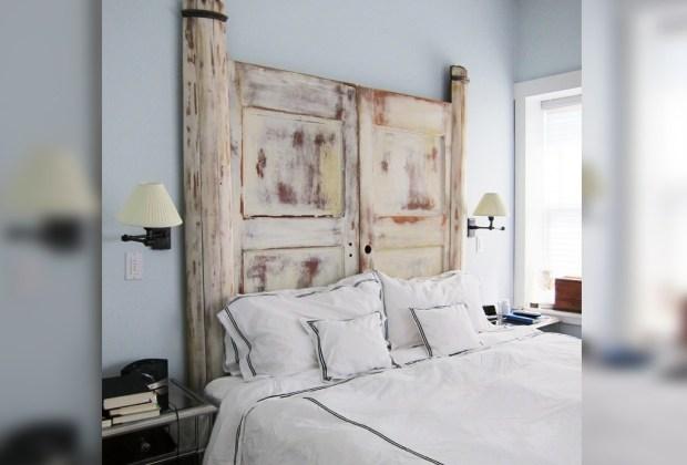 6 alternativas para una cabecera de cama original - Cabecera-puertas-1024x694