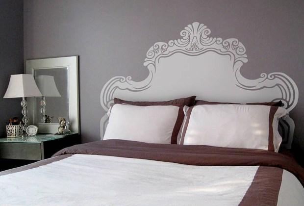6 alternativas para una cabecera de cama original - Cabecera-vinil1-1024x694