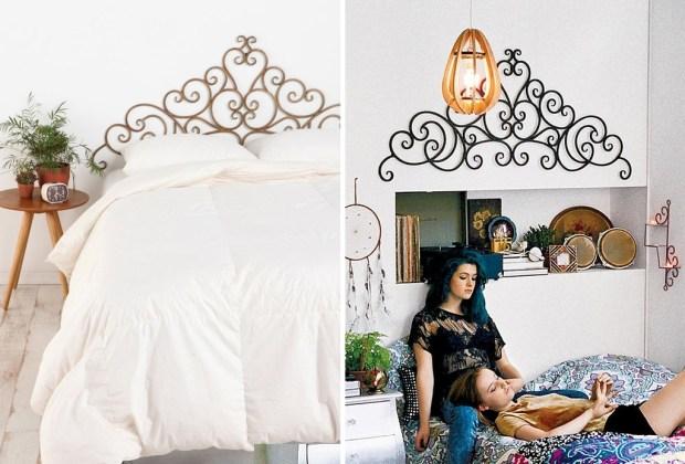 6 alternativas para una cabecera de cama original - Pieza-de-metal-cabecera-1024x694
