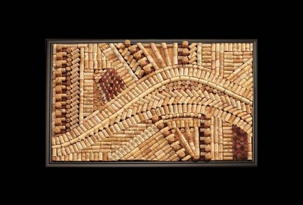 10 ideas de decoración utilizando corchos de vino - decoraci%C3%B3n-corcho-cuadro-1024x694