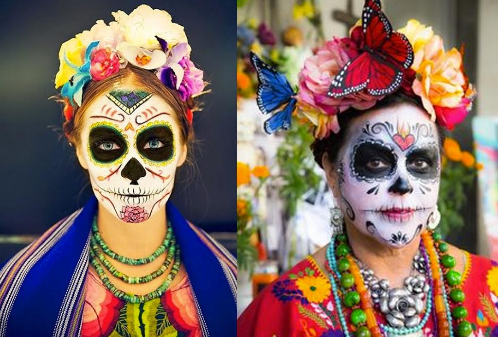 Los mejores make-ups de CATRINA - maquillaje-catrina-frida-khalo