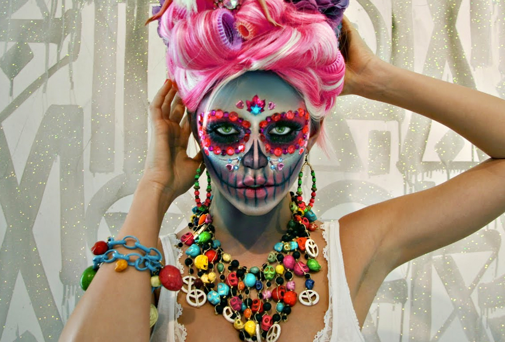 Los mejores make-ups de CATRINA - maquillaje-catrina-peace-and-love