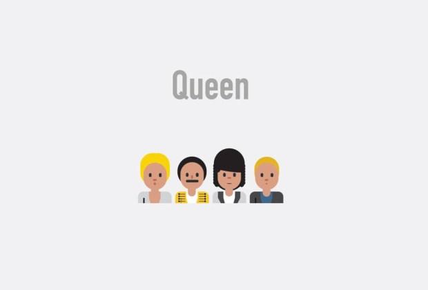 Así se verían tus músicos favoritos si fueran emojis - queen-1024x694
