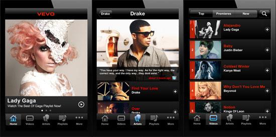 Las 8 mejores apps para descubrir música - vevo-app