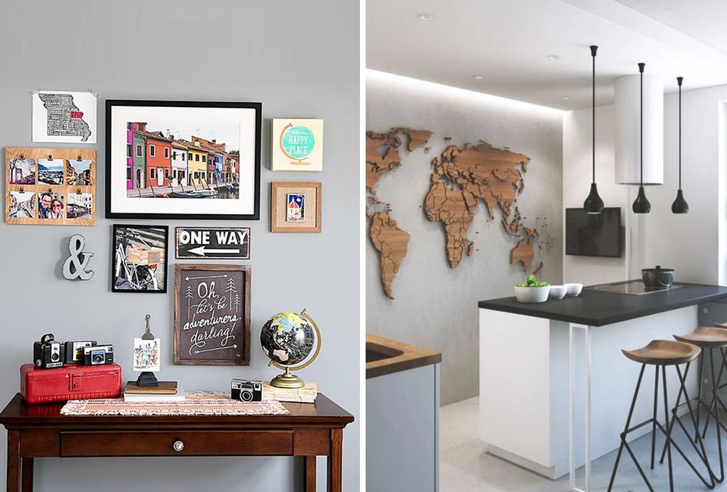 Plasma tu espíritu viajero en la decoración de tu hogar - cuadros