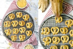 Hornea unos pretzels MUY healthy para tu perro