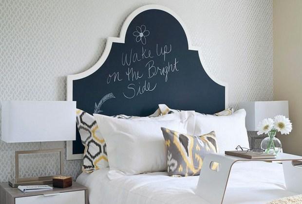 6 alternativas para una cabecera de cama original - cabecera-pizarron-1024x694