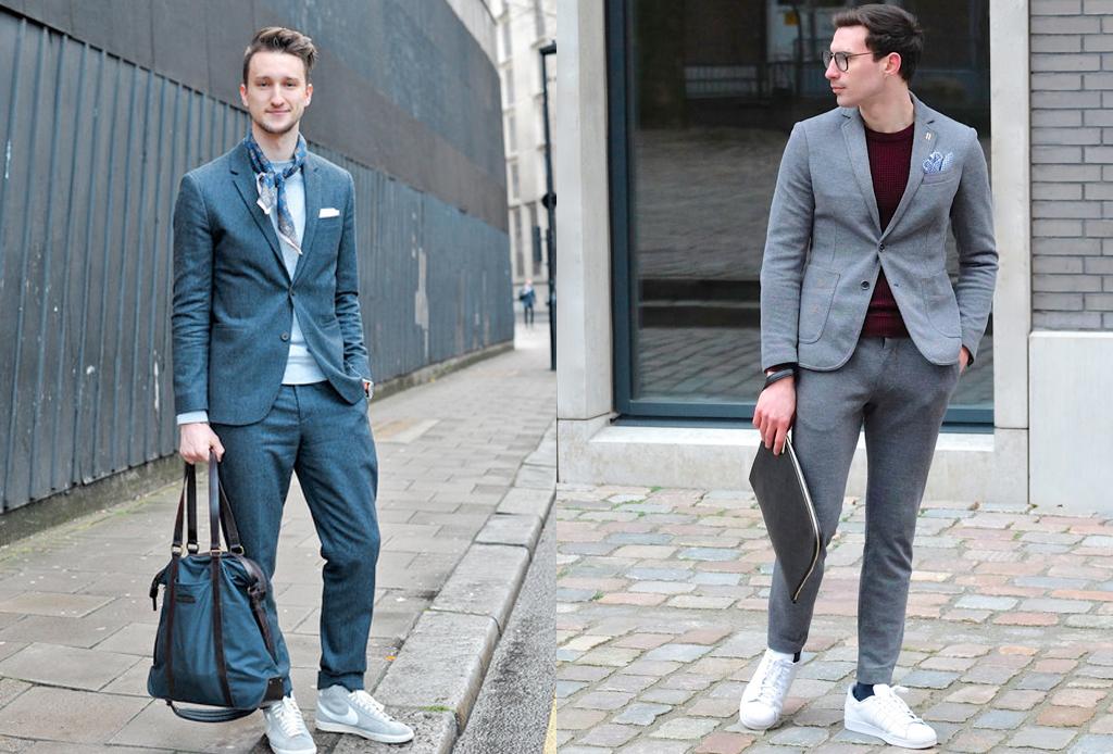 5 formas de usar sneakers con cualquier outfit - traje