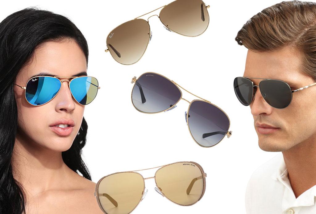 6 estilos de lentes oscuros para acompañar el verano - aviador