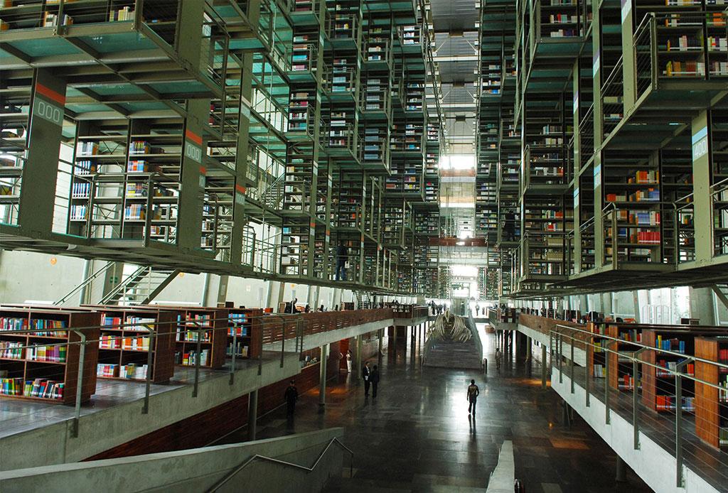 42 lugares para un inolvidable tour arquitectónico por la CDMX - biblioteca-jose-vasconcelos