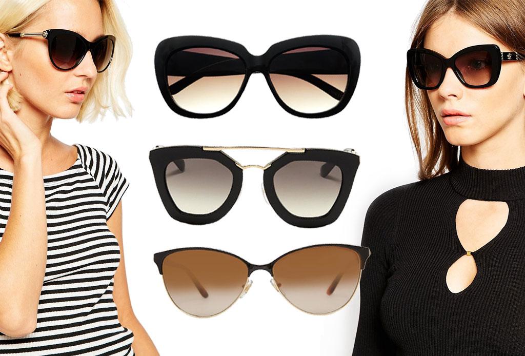 6 estilos de lentes oscuros para acompañar el verano - cateye