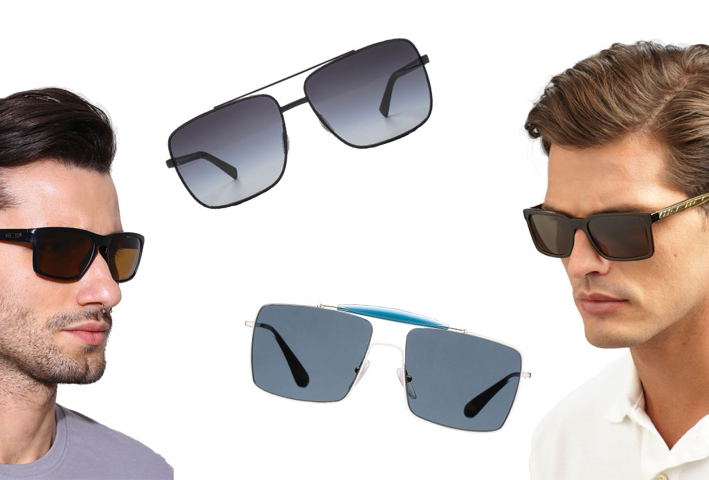 6 estilos de lentes oscuros para acompañar el verano - rectangulares