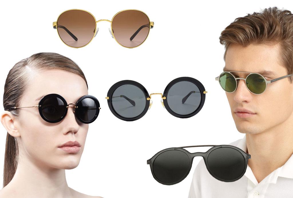 6 estilos de lentes oscuros para acompañar el verano - redondos