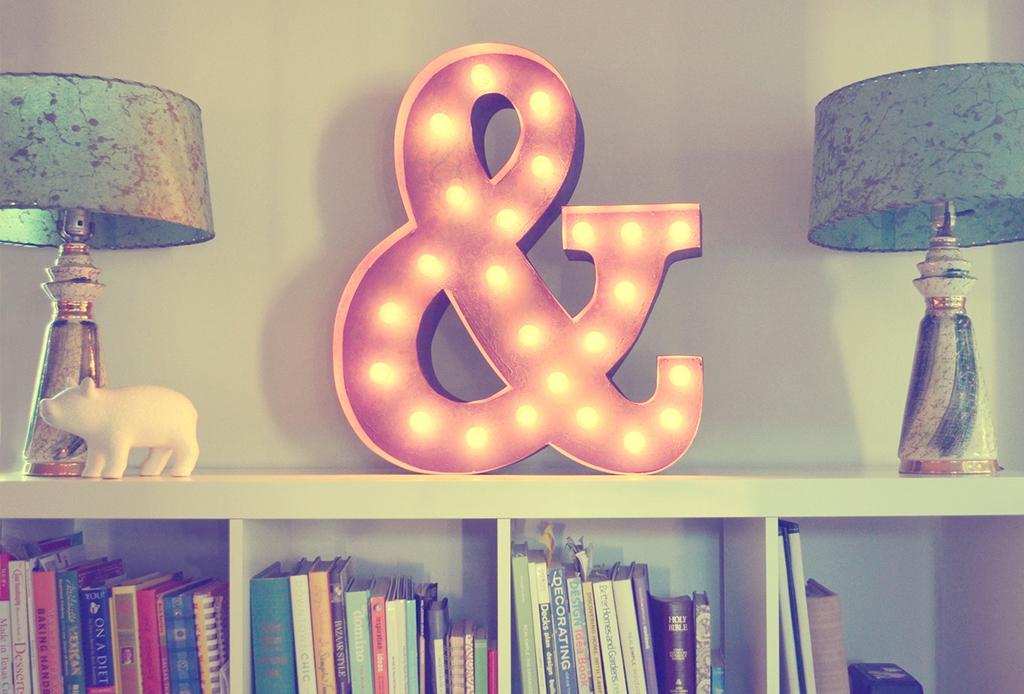 Ampersand: un gran detalle para decorar