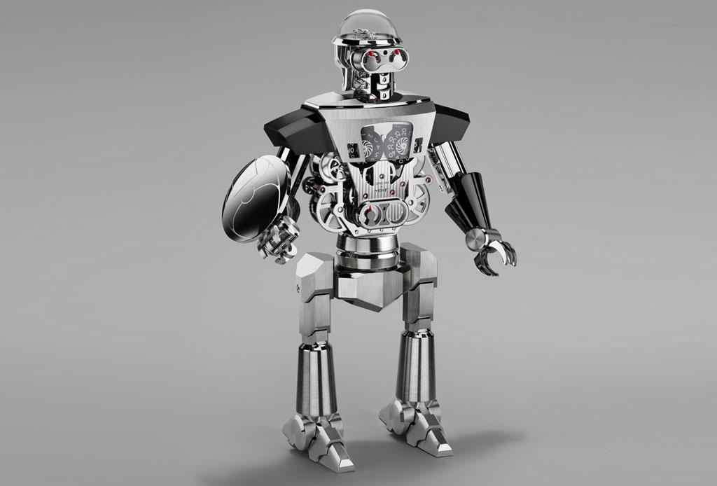Balthazar: Un impresionante robot-reloj de dos caras - balthazar-2