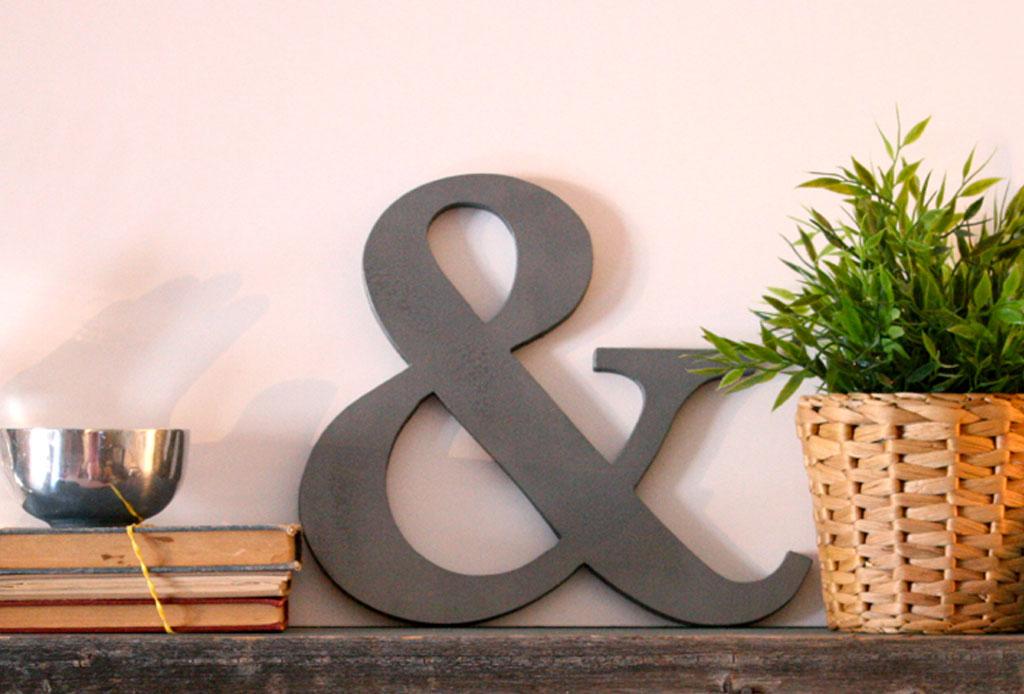 Ampersand: un gran detalle para decorar - decoracion-ampersand-9