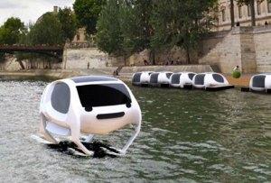 ¡Un taxi flotante invadirá el Río Sena en Paris!