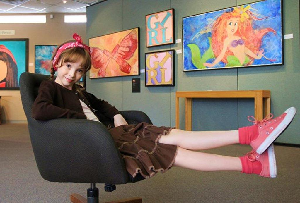 Autumn de Forest: tiene 14 años, es pintora y la comparan con Picasso y Warhol