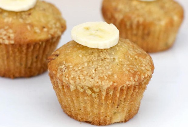 ¿Antojo de algo dulce? Prepara un muffin de banana con yogurt Chobani - banana-1024x694