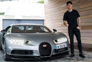 Cristiano Ronaldo probó el nuevo Bugatti Chiron