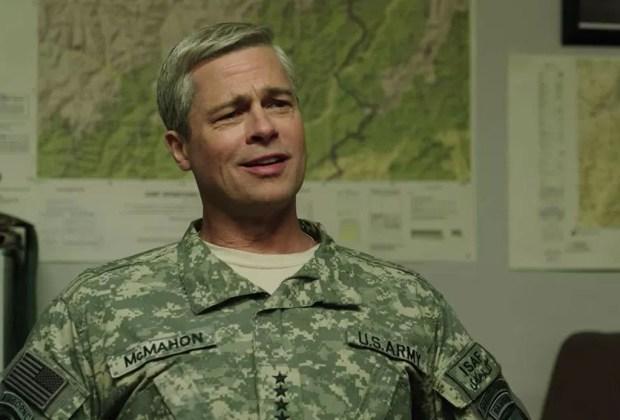Tilda Swinton y Brad Pitt en películas originales de Netflix - netflix-war-machine-movie-1024x694