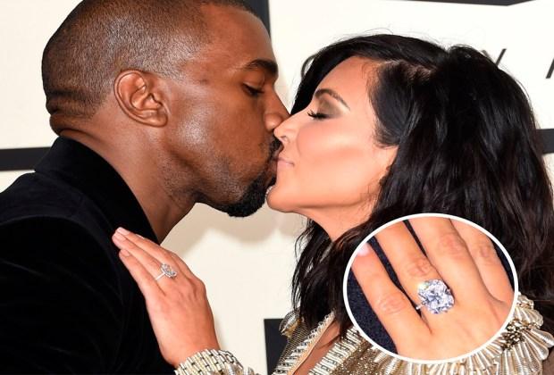 ¿Sabes qué celebridades son dueñas de los anillos de compromiso más caros? - kim-1024x694