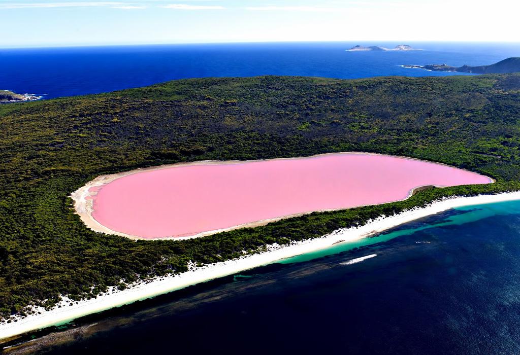 Destinos donde encontrarás lugares con agua rosa - pinklake