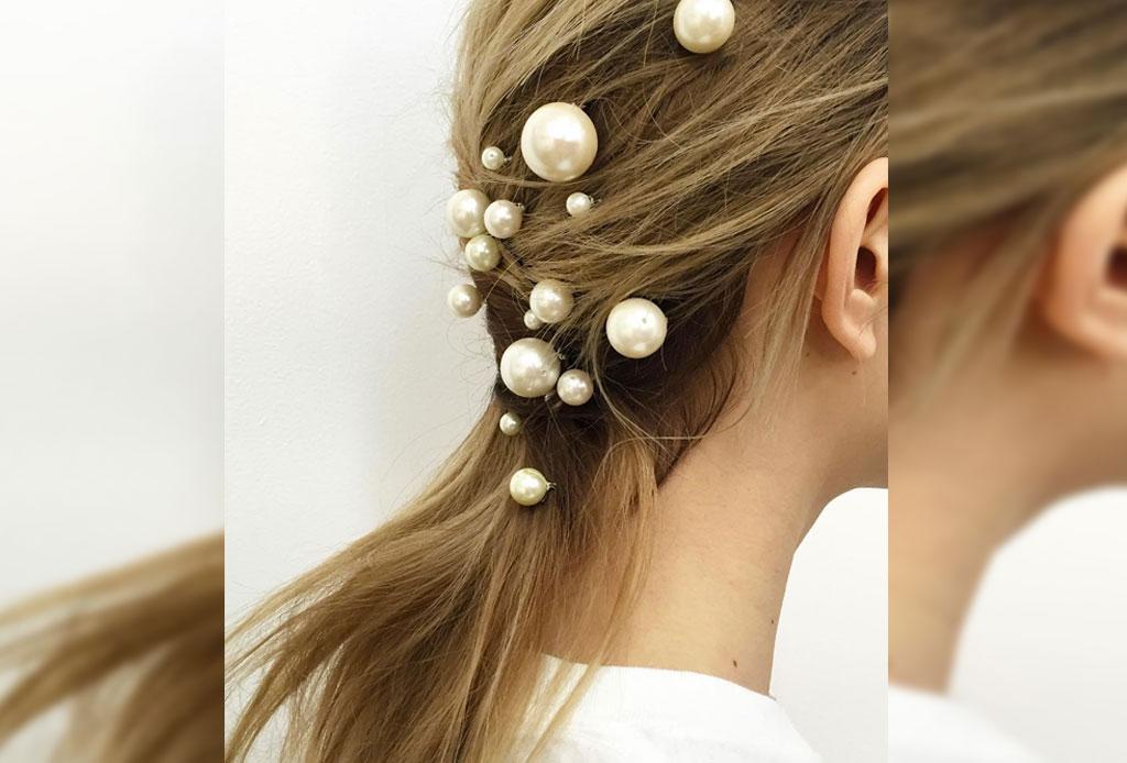Transforma un peinado sencillo ¡con perlas! - peinado-perlas