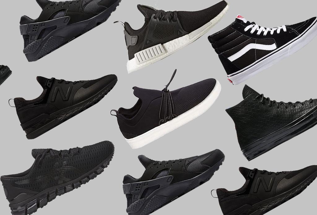 Los sneakers para ELLOS en versión «All Black»