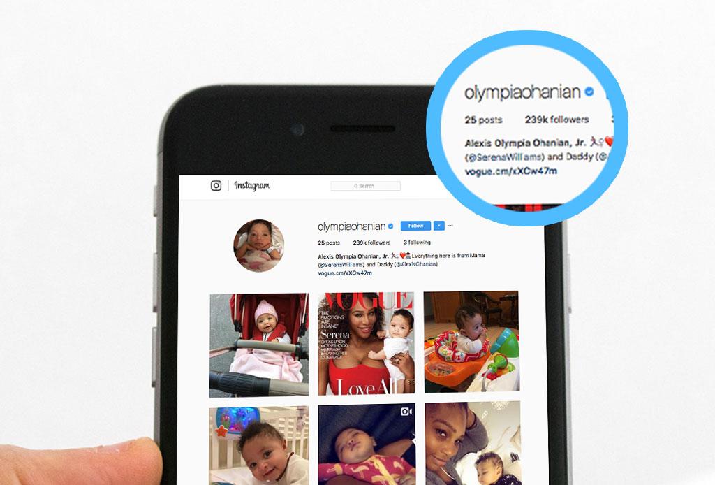 A menos de 6 meses de nacida, la hija de Serena Williams tiene más de 200 mil followers en Instagram - alexis-ohanian