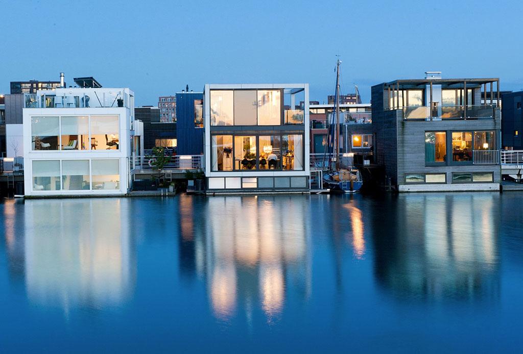 Las casas flotantes son el futuro ante el cambio climático