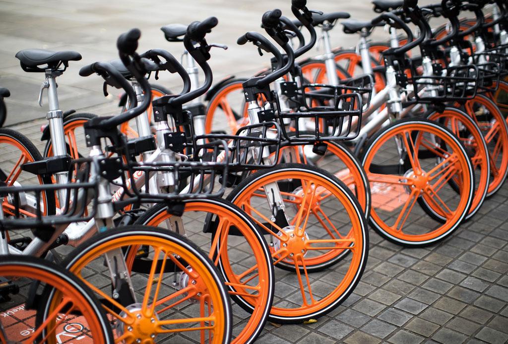 Mobike: las bicicletas de color naranja que han tomado la CDMX