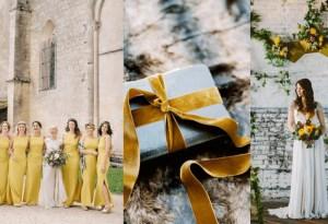 El color amarillo mostaza es el tono favorito del momento… ¡para bodas!