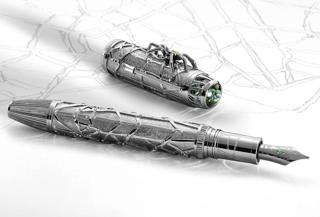 Montblanc creó una exclusiva pluma no apta para aracnofóbicos - pluma-arana-montblanc-3