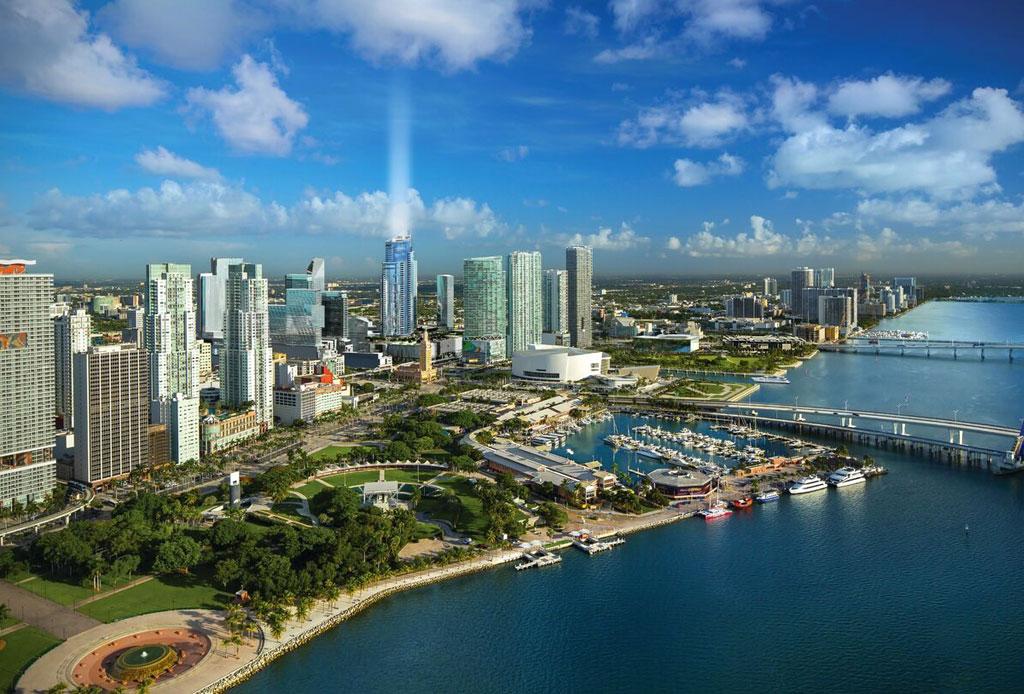 Esta torre residencial en Miami se prepara para los autos voladores del futuro - edificio-autos-voladores-2